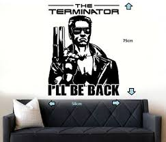 Terminator I Ll Be Back Graphic Decor Quote Wall Art Sticker Decal Ebay