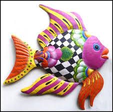 tropical fish metal wall art outdoor