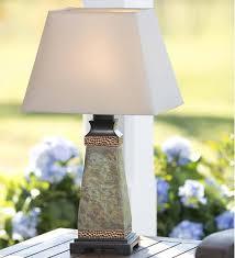 weatherproof slate outdoor table lamp