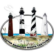 Obx Sticker Outer Banks Euro Oval Vinyl Window Decal Island North Carolina Nc 1 99 Picclick