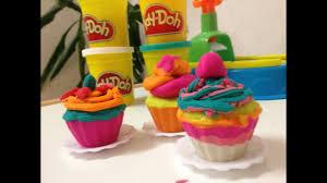 معجون أطفال طين اصطناعي طريقة عمل الكب كيك Making Cupcake
