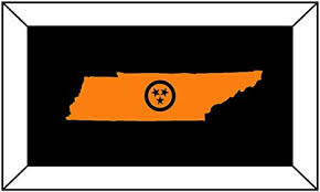 Amazon Com T1241 Tennessee State Tri Star Orange Decal Sticker 2 0 X 5 0 Easy To Apply Instructions Included Premium 6 Year Vinyl