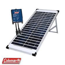Coleman 40w 12v Crystalline Solar Panel Kit Pump Electric Fence And Much More Ebay