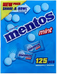 mentos chewy mints 125 ea nutrition