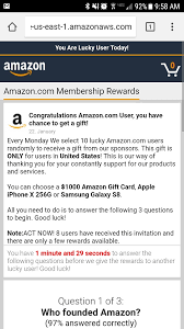 amazon pop up and iphone x or gift