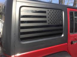 American Flag Jeep Wrangler Rear Side Window Decals 4 Door Etsy