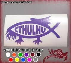 6 Cthulhu Fish Vinyl Sticker Myth Phish Badge Car Window Decal Lovecraft Cute Ebay