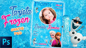 Tutorial Tarjeta Frozen Para Cumpleanos Photoshop Youtube