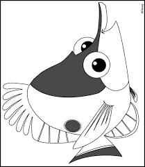Kids N Fun Kleurplaat Finding Nemo Vis