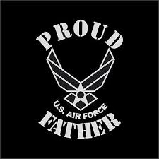 Proud Us Air Force Father Military Vinyl Decal Sticker Window Wall Car Ebay