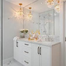 brass cyrstal droplets bathroom