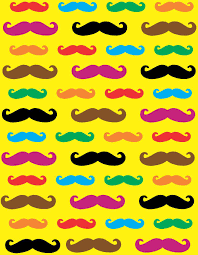 7in X 9in Assorted Color Mustache Vinyl Sheet Sticker Colorful Yellow Decal Stickertalk