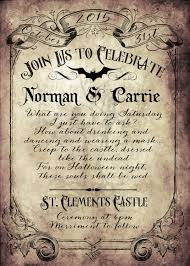 Custom Vintage Victorian Halloween Goth Wedding Invitation Reply