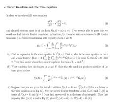 solved fourier transforms and the