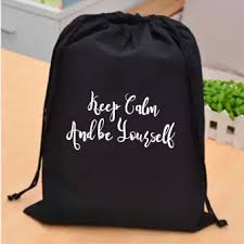 moova shop tas ransel drawstring quotes keep calm and be yourself