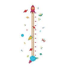 Lovely Rocket Growth Chart Wall Stickers Kids Room Decoration Children Height Measure Diy Home Decals Walmart Com Walmart Com