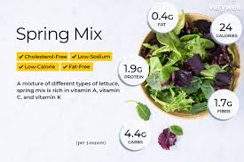 spring mix nutrition facts calories