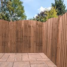 6ft X 6ft Featheredge Dome Top Pressure Treated Fence Panel One Garden
