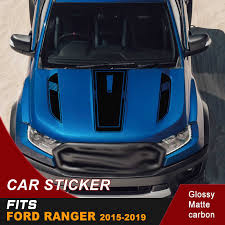 Car Decoration Hood Bonnet Sticker Bonnet Racing Graphic Vinyl Car Stickers Decals Fit For Ford Ranger 2015 2016 2017 2018 2019 Car Stickers Aliexpress