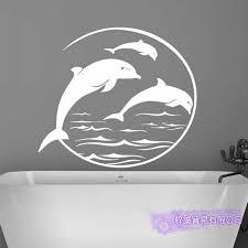 Dolphin Wall Sticker Decal Posters Vinyl Wall Art Decals Decal Decor Mural Wild Animal Sticker Dolphin Car Sticker Wall Stickers Aliexpress
