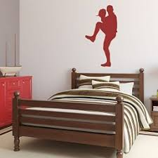 Baseball Player Wall Decal Pitching Boys Room Vinyl Wall Decor Customvinyldecor Com