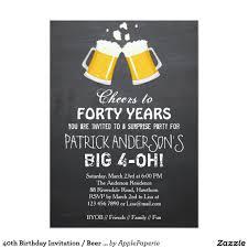 40th Birthday Invitation Beer 40th Birthday Zazzle Com Crear