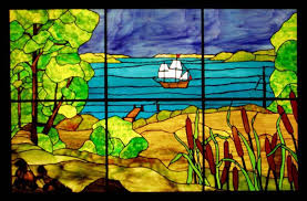 stained glass panels windward stained