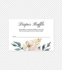 wedding invitation baby shower raffle