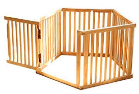 Amazon.com : Priscilla- Wood Freestyle Pet Gate Fence Natural Finish  (Small) : Baby