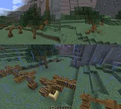 Custom Fence Trees Inspired By Bdubs Minecraft