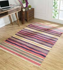 hand woven stripes pattern dhurrie