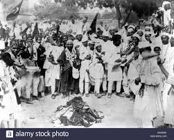 Politics - India'a Boycott of British Cloth Stock Photo - Alamy