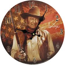 John Wayne Wall Clock It Would Make A Great Gift The Duke Home Garden Wall Clocks
