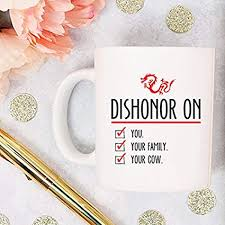 yamogg disney coffee cup mulan gift dishonor on your cow
