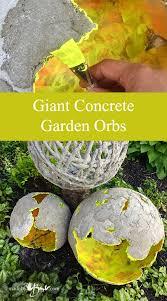giant concrete garden orbs made by