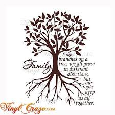 Family Like Branches On A Tree We All Grow In Different Directions But Our Roots Saying Quote Vinyl Wall Art Decal Gift Revised Family Tree Quotes Tree Quotes Family Tree Painting