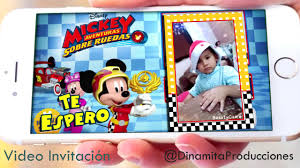 Mickey Mouse Sobre Ruedas Video Invitacion Cumpleanos Youtube