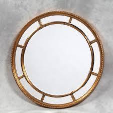 large round gold naomi mirror 112 cm