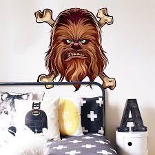 Stickalz Llc Chewbacca Movie Full Color Wall Decal Sticker K 533 Frst Size 46 X56 Walmart Com