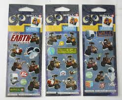 3x Rare Wall E Eve Mo M O Sticker Sheets 32 Stickers Disney Pixar Brand New Ebay