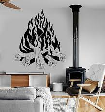 Vinyl Wall Decal Bonfire Campfire Camping Fire Fireplace Stickers Ig3817 Ebay