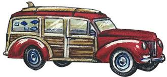 Woody Car Removeable Wall Decal By Surf Room Designer Dean Miller