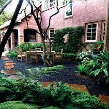 black pebbles garden black shiny garden