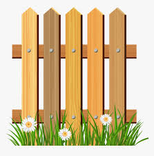 Background Grass And Fence Clipart Wooden Fence Clipart Png Transparent Png Kindpng