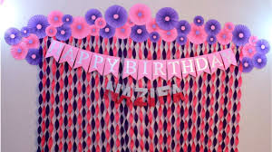 Birthday Decoration Ideas At Home Decorations For Baby Shower Party Decoration Ideas Craftastic Youtube