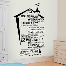 Shop Walplus English House Rule Peel And Stick Wall Sticker Wall Decor Overstock 31908615