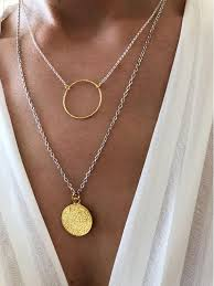 gold disc necklaces in 2020 gold disc