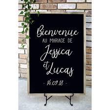 French Bienvenue Wedding Welcome Sign Decal Personalized Wedding Vinyl Sticker Modern Wedding Decoration Diy G354 Leather Bag