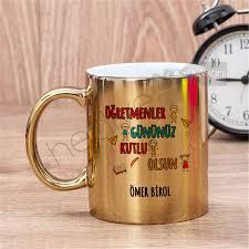 Öğretmenler Günü Hediyesi Gold Kupa Bardak Hediye Dükkanı