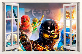 Lego Ninjago Window 3d Wall Sticker Kids Room Decoration Etsy